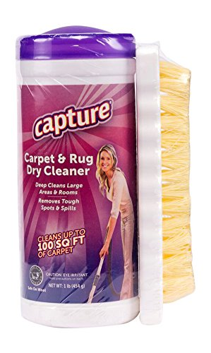 Capture Carpet Dry Cleaner Powder with Brush