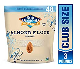 Gluten free Great in recipes and baking Supports Keto and Paleo lifestyles Finely sifted and made with high quality blanched almonds Contains 1   3 pounds bag of Blue Diamond Almond Flour