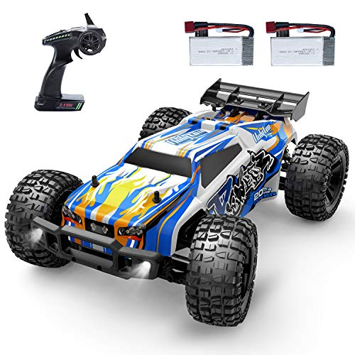 Holyton Remote Control Car 1:12 Scale RC Cars 45 KM/H High Speed 40min Play for Adults and Kids, 4WD Driving 2.4GHz Off Road Monster Truck Waterproof Vehicle, Toys Gifts for Boys 2 Batteries