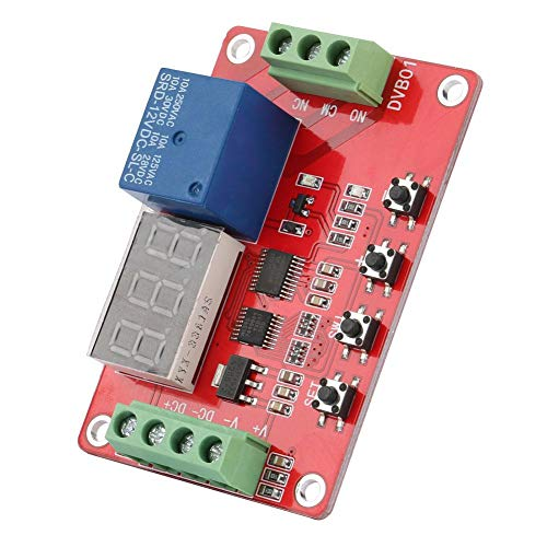 Red Digital Window Voltage Comparator Overvoltage Undervoltage Protection Voltage Measurement Module 12V/24V(12V)