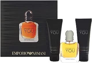 Emporio Armani Stronger With You for Men 3 Piece Set Includes: 1.7 oz Eau de Tolilette Spray + 2 x All Over Shampoo
