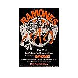 Ramones 1978 C.W. Post New York Konzert-Poster,