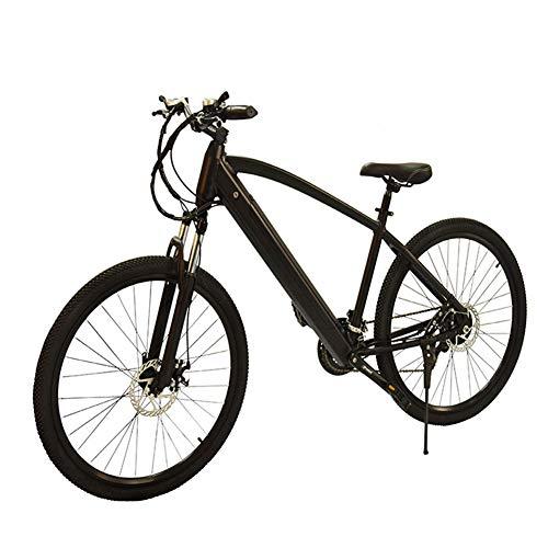HLEZ 27.5'' Electric Mountain Bike, Electric Bike Adult 250W 36V 9.6Ah Lithium Battery 7 Speeds Beach Cruiser Sports Mountain Bikes Full Suspension e bike for Adults,UK