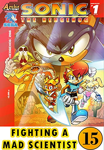 Hedgehog Fighting Mad Scientist: New Collection 15 Funny Graphic Novels Adventure Comic For Kids Children Cartoon Of So-nic (English Edition)