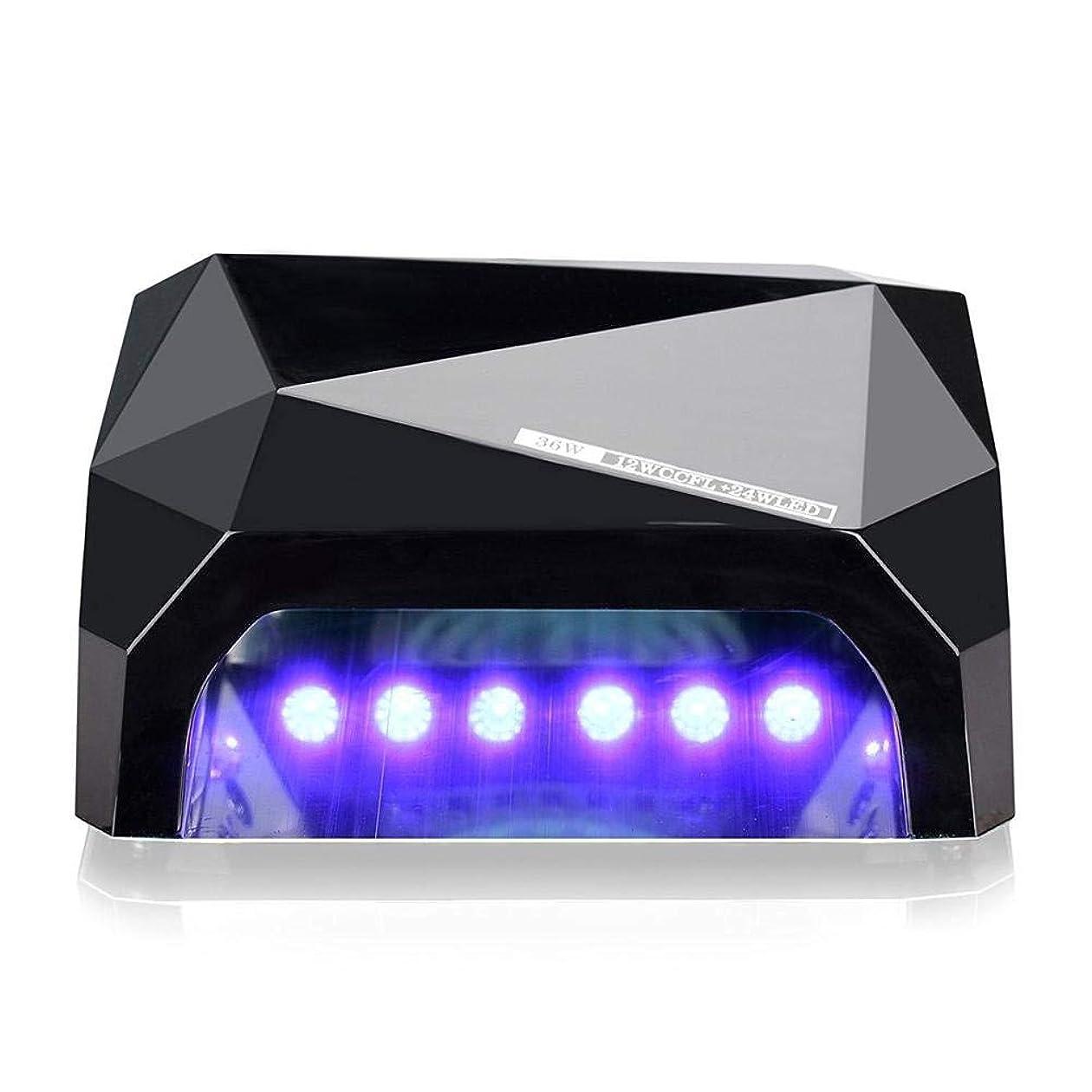 36W LED UVネイルランプネイルライトドライヤー用硬化ジェルネイルポリッシュ用ネイルアートマニキュアツール3タイムプレセット(10秒30秒60秒)6色