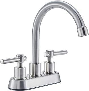 Hotis Contemporary Two Handle Vanity Bathroom Sink Faucet,Brushed Nickel Vessel Bathroom Faucet