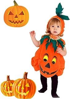 Cuteboom Kids Halloween Costume Children Orange Pumpkin Patch Unisex Clothes for Halloween Party, Halloween Night Trick or Treat Costume