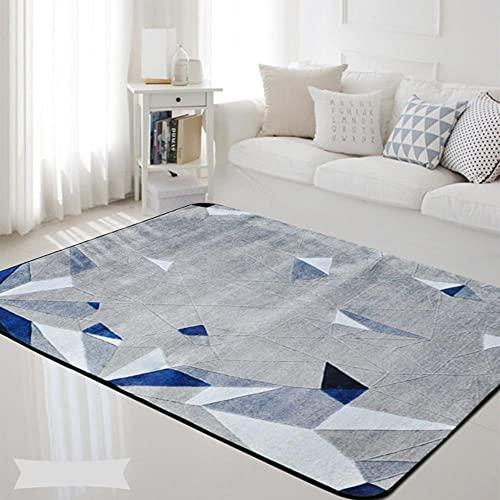 Alfombra moderna y simple estilo salón geometría abstracta dormitorio cabecera alfombra decoración del hogar suave cristal paño grueso y suave sala de estar