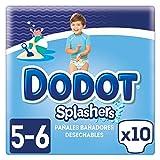 foto Dodot Splashers - 10 Pañales Bañadores Desechables, a partir de 14 kg, No Se Hinchan Y Fácil de Quitar, Talla 5