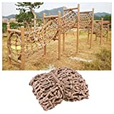Climbing Net for Kids, Treehouse Safety Net Child Swing Fence Netting Rope Ladder Truck Trailer Heavy Duty Cargo Net Balcony Stair Playground Protection Net Grid 10cm (Size : 110m(333ft))