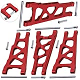 Hobbypark 4PCS Aluminum Suspension Arms Front & Rear for RC Traxxas 1/10 Slash 4x4 XO-1 Upgrade Parts Option Hop-ups Replacement of 3655x