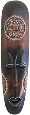 OMA African Wall Mask Decor Fire Mask Tribal Tiki Lucky in Love Wooden Hand Crafted Home Decor Gift Large Size