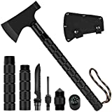 Survival Axe Folding Portable Camping Axe Multi-Tool Hatchet Survival Kit Tactical Tomahawk for Outdoor Hiking Hunting
