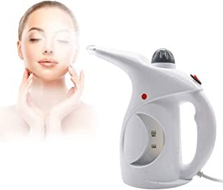 Rylan Facial Handheld Portable Garment/Clothes, Face and Nose , Cold and Cough Steamer Brush, White