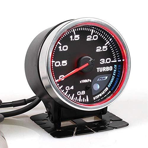no-branded Kraftstoffanzeige Selbstlehre CR 2.5 Zoll 60mm 7 Farben 0-3 Bar Turbo-Boost-Auto-Lehre mit elektronischen Sensor CGFEUR