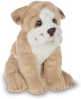 Bearington Lil' Tug Small Plush Bulldog Stuffed Animal Puppy Dog, 6.5 inches