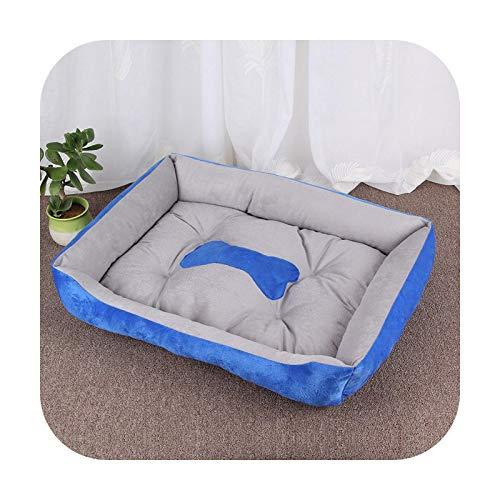 Pet Supplies - Cama para perro, impermeable, alfombra para gato, cama para perro, manta suave de gran tamaño, algodón cálido, cachorro, nido grande, azul