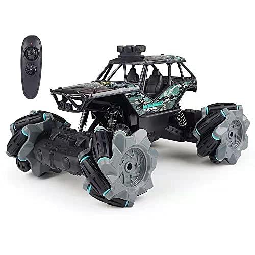 M-zen Niños RC Car 2.4G Alta Velocidad Tracción En Las Cuatro Ruedas Vehículo Todo Terreno Monster Truck Crawler Buggy Drifting Stunt Lateral Sliding Light Juguete Niños Niños Regalos De Cumpleaños