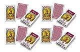 Outletdelocio.. Pack 4 Baraja española Fournier. Guiñote, mus,... 40 Cartas 100% plastico Lavable. Calidad Casino.