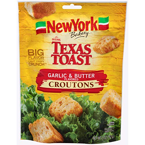 New York Brand The Original Texas Toast Garlic & Butter Flavored Croutons, 5 oz (3 bags)