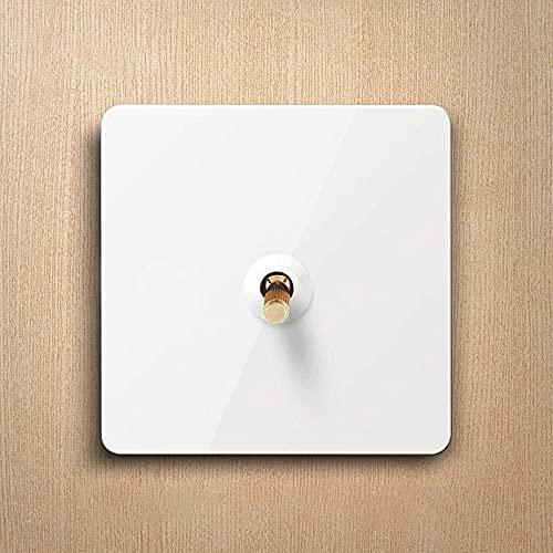 Ploutne Interruptor de palanca de época 1-4 GANG 2 WAY LIGHT LIGHT HOGAR 86 Tipo Retro interruptor de palanca Interruptor de pared blanco Panel de metal Interruptor de palanca de latón 10A 110-220V Do