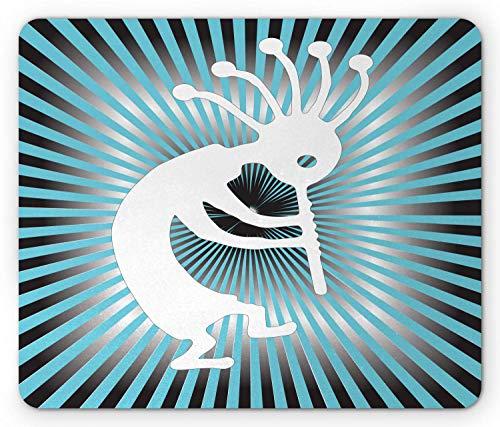 Kokopelli Mouse Pad, Modernized Music Fertility Fruitfulness Tribe Starbursts, Mousepad Mouse Mat...