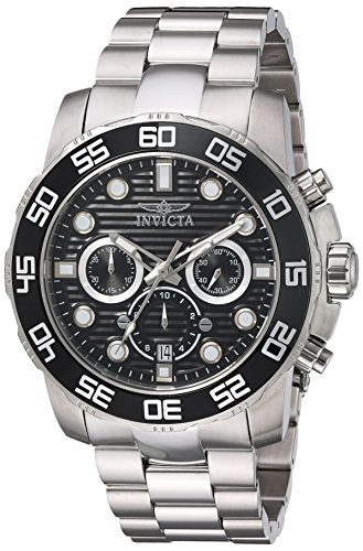 Invicta Men's Pro Diver Quartz Watch with Stainless-Steel Strap, Silver, 26 (Model: 22226)