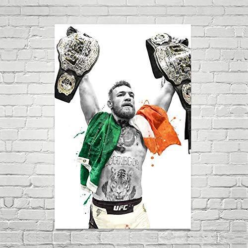 TopShelfPrints Conor McGregor UFC Champ Poster//Canvas Print UFC MMA Artwork Kids Room Wall Decor Sports Decor Man Cave