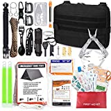 Molle Trauma First Aid Pouch - EDC IFAK Tactical Med Kit, Wilderness Survival Bug Out Supplies Bag, EMT Safety Kit with Israeli Bandage, Tourniquet, for Emergency Car Outdoor Kayak Boat Hunting Rescue