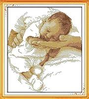 クロスステッチ刺繍キット 図柄印刷 初心者 ホームの装飾 刺繍糸 針 布 11CT Cross Stitch ホームの装飾 授乳中の赤ちゃん 40x50cm