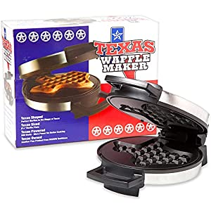 FLUFFY, THICK, DELICOUS: Your mouth will water as the smell of waffles fills the kitchen and the steam starts to rise from your Texas Waffle Maker. The kids anxiously await their tasty, golden waffles, and are excited when they arrive Texas Shaped! M...