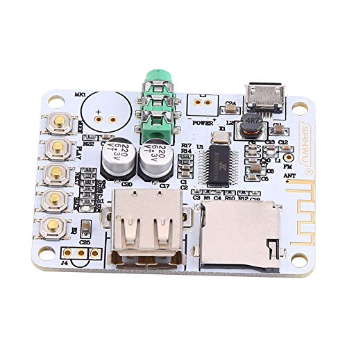 Audio Receiver Board, Asixx Neuer Wireless Audio Receiver Mikrofon Verstärker USB TF FM MP3 Decoder WMA WAV FLAC Player (#2)
