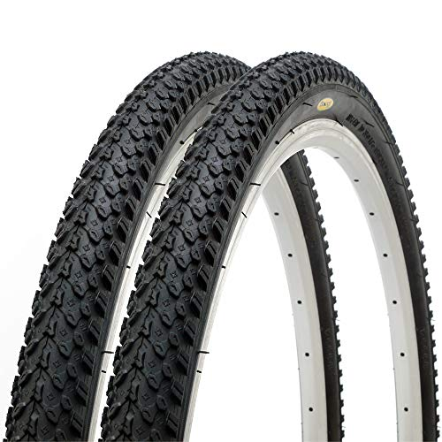 Pair of Fincci MTB Mountain Hybrid Bike Bicycle Tyres 26 x 2.125