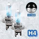 Xenon Headlight Bulb H4, 2 x MASO Super White Vehicle Car Headlight Bulbs, 100W 6000K Xenon Halogen Headlamp,12V …