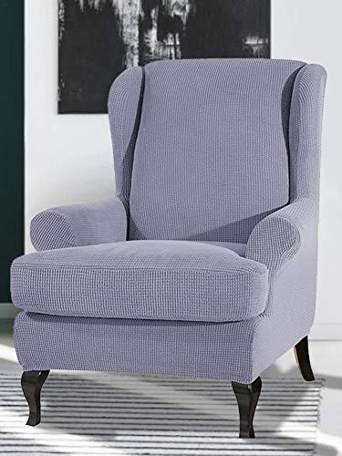 Depruies Ohrensessel Schonbezug Bezug Sesselhusse Elastisch Jacquard Elastische Sofaüberwurf Schutzhülle aus elastischem Möbel Schutzhülle Sessel Schutzhülle Abnehmbare Elastische Blätter