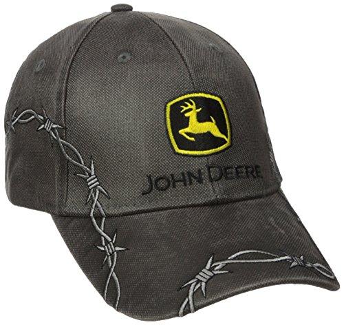 John Deere Embroidered Logo Waxed Cotton Baseball Hat - One-Size - Men