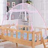 XDXJJ MoskitonetzBabybett Sicherheit Pop Up Zelt Premium Babybett Überdachung Netting Cover   Kinderbett Zelt Net   Schützen Sie Ihr Baby vor Stürzen und Bissen (Color : Pink)