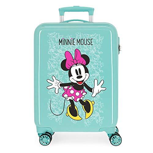 Disney Minnie Enjoy The Day Maleta de Cabina Verde 40x55x20 cms Rígida ABS Cierre combinación 34L 2,8Kgs 4 Ruedas Dobles Equipaje de Mano