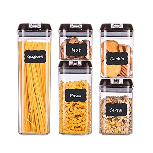 HOMELODY Vorratsdosen Set 5 Teilig Müsli Aufbewahrung Mehl Aufbewahrung Aufbewahrungsbox Küche Vorratsgläser mit Deckel Vorratsdosen Luftdicht