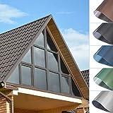 Lámina de protección solar para ventanas, de pvc, sin pegamento, autoadhesiva, protección contra el calor, protección uv, transparente, resistente a los arañazos, para ventanas, balcones, 45 x 200 cm