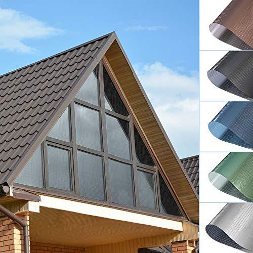 Sonnenschutzfolie Fensterfolie PVC-Spiegelfolie Ohne Klebstoff selbstklebende Hitzeschutzfolie UV-Schutzfolie Transparente Folie Kratzfest Sichtschutzfolie für Fenster Balkonfenster 75x300CM--Schwarz