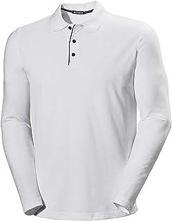 Musen Men Long Sleeve Polo Shirts Cotton Classic Fit T-Shirt