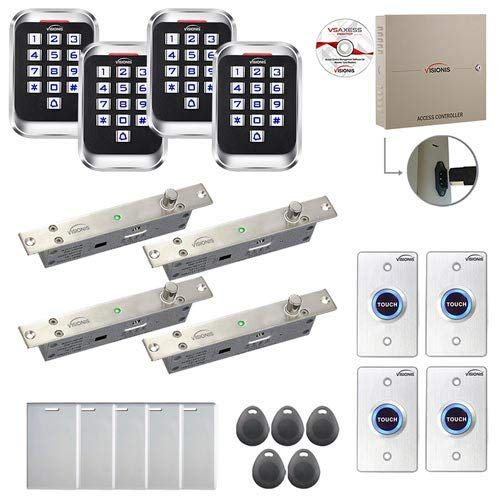 Best Prices! Visionis FPC-8305 4 Door Professional Access Control Electric Drop Bolt Fail Secure Tim...