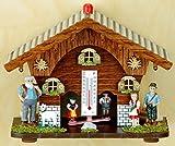 magicaldeco Original Schwarzwald- Wetterhaus 13 cm - ALM-Öhi, Heidi, Peter, Ziege- Germany Black Forest- Weather Houses