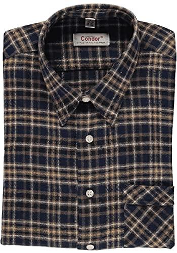 Condor Herren Hemd Arbeitshemd Workwear Langarm mit Liegekragen Qinea, Größe:41/42, Farbe:Marine
