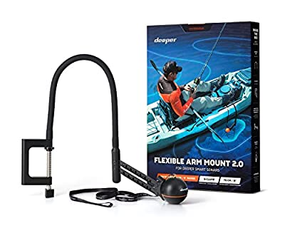 Deeper Flexible Arm Mount 2.0 – New Improved Design for Better Use on a Boat or Kayak