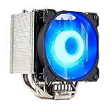 Gelid Solutions Sirocco - Enfriador de Torre   Ventiladores PWM RGB   6 Pipas de Calor   Disipador de Cobre   Recubrimiento de níquel   TDP 200W