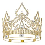 DcZeRong Queen Crowns Gold Women Crowns For Prom Pageant Party Queen Rhinestone Full Crowns