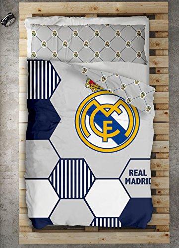 Textilonline - Funda Nordica 2 Pzas. Real Madrid Regate (Cama 105 cms., Color Unico)