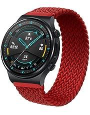 RIOROO 22 mm riem compatibel voor Garmin Vívoactive 4 riem, polsband, compatibel voor HUAWEI Watch GT 2 (46 mm), dames heren sportband, compatibel voor Samsung Galaxy Watch 3 elastische nylon horlogeband